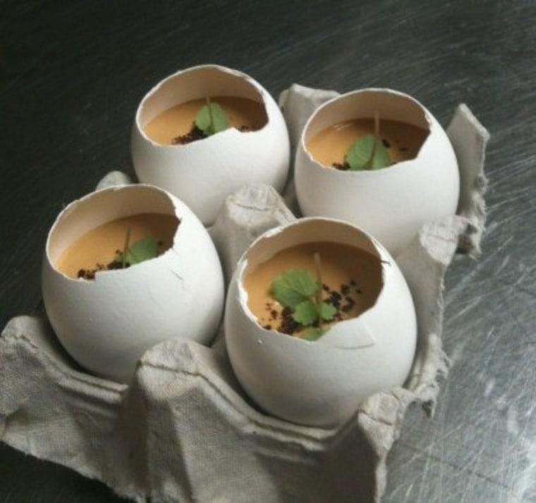 Chicory eggnog custard