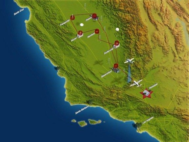 Two NASA planes tracked pollution in Callifornia's Central Valley in January and February.