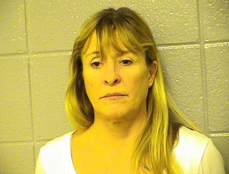 Elaine Cook, 51, was charged with aggravated domestic battery for allegedly biting off part of her boyfriend's tongue during an argument on Valentine's Day.