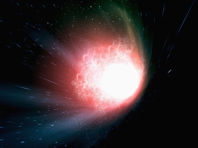 An artist's conception visualizes the beginning of the universe in the big bang — or could it be the end of the universe?