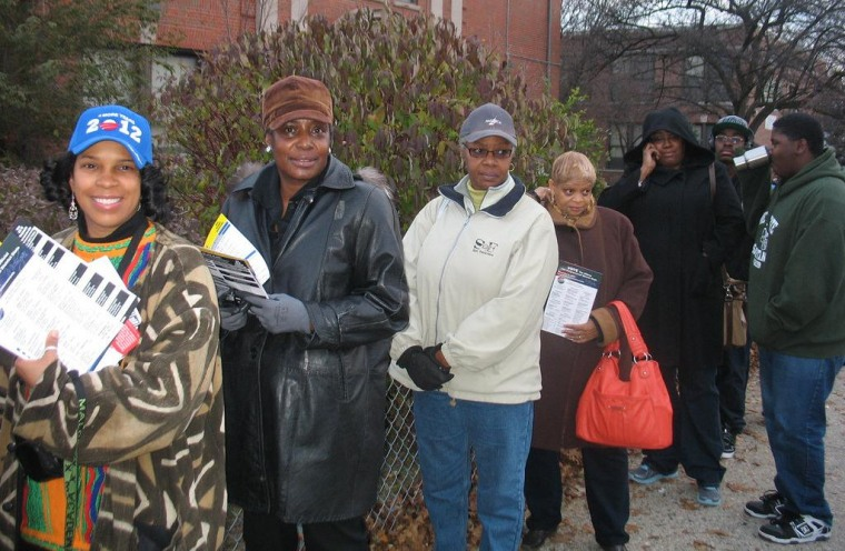 Waiting to vote in Detroit, November 2012.