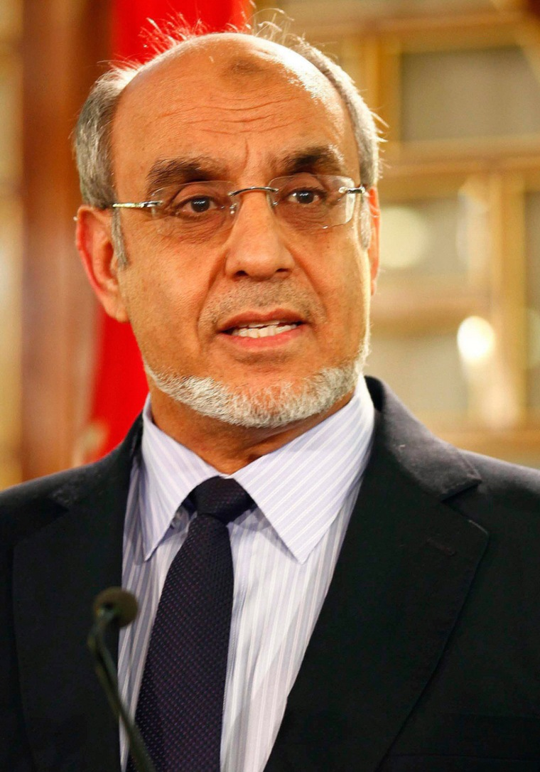 Tunisia's Prime Minister Hamadi Jebali speaks as he announces his resignation during a news conference in Tunis, Tunisia, Feb. 19, 2013. Jebali resigned after his attempt to form a government of technocrats failed.