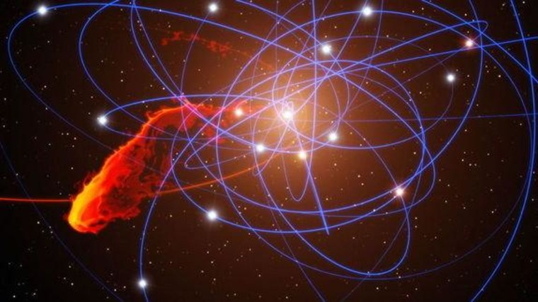 Hypervelocity stars zoom around the center of the Milky Way, where a supermassive black hole lurks.