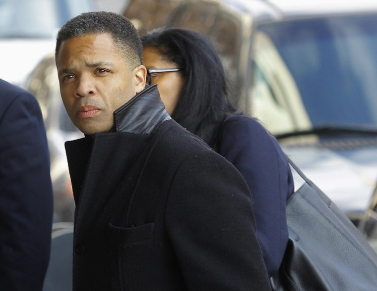 Former Chicago congressman Jesse Jackson Jr. enters the U.S. District Federal Courthouse in Washington on Wednesday.