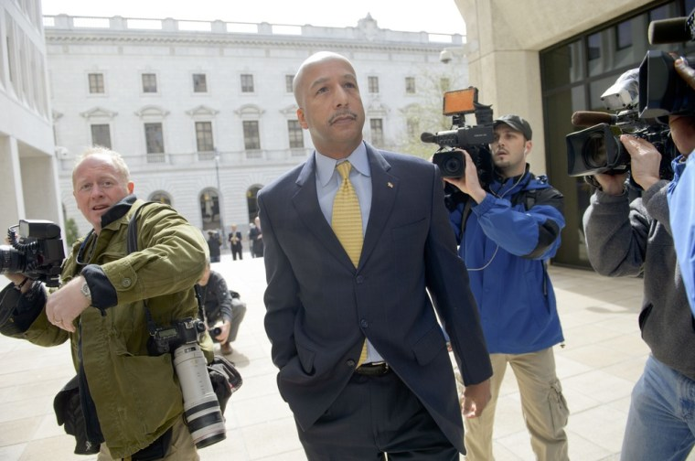 Former New Orleans Mayor Ray Nagin arrives at the Hale Boggs Federal Building and U.S. District Courthouse to appear in federal court for an arraignment on public corruption charges in New Orleans.