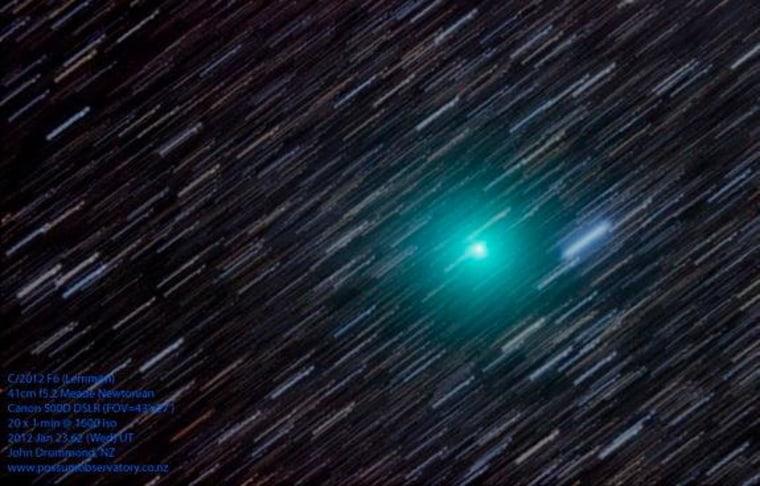 Astrophotographer John Drummond sent in his photo of Comet Lemmon taken on Jan. 23 in New Zealand.