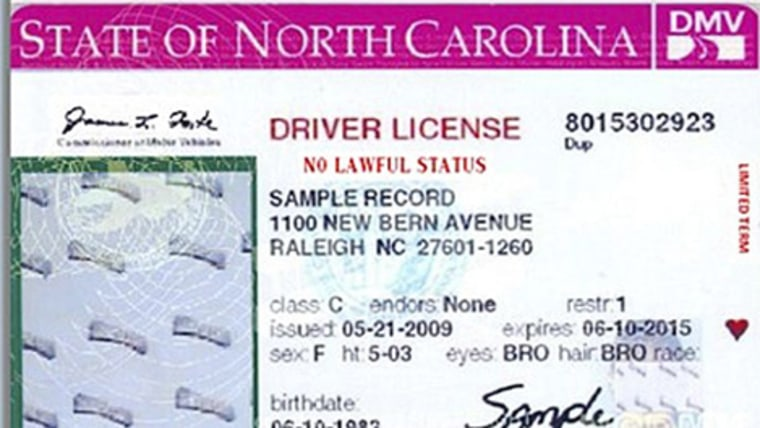 The new North Carolina license declares to everyone that the bearer has
