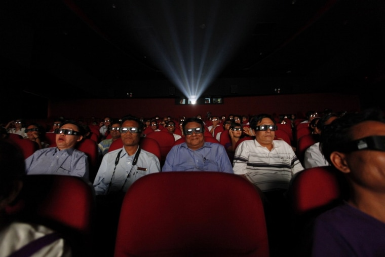 The most common gripes among moviegoers watching 3-D movies were that their eyes felt tired or they had a headache. But nearly 11 percent felt like they wanted to puke.
