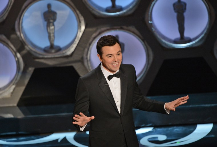 Host Seth MacFarlane pushed the envelope on Oscar humor, and not everyone laughed.