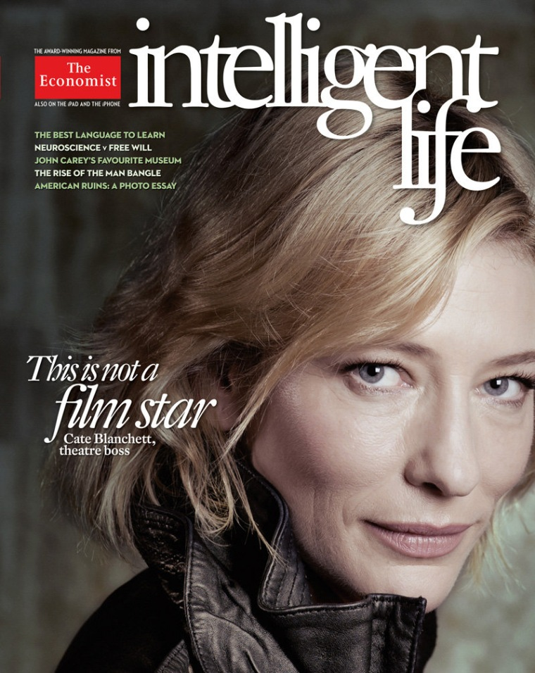 Brave and beautiful: Actress Cate Blanchett went without makeup for the latest cover of Intelligent Life magazine.