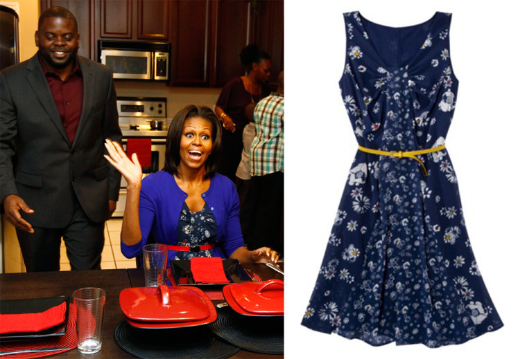 The first lady wore the Jason Wu for Target dress, which is sold out online but still available in some stores, while promoting her