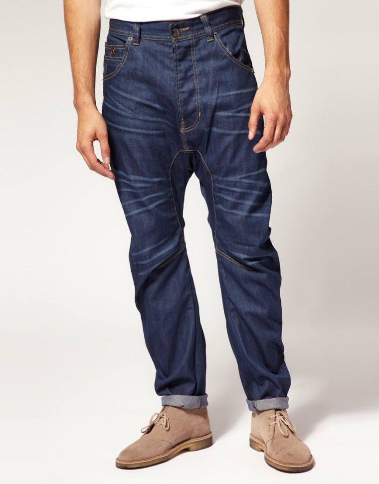 These drop crotch jeans from ASOS are reduced from $89.53 to $35.81. We're not surprised?
