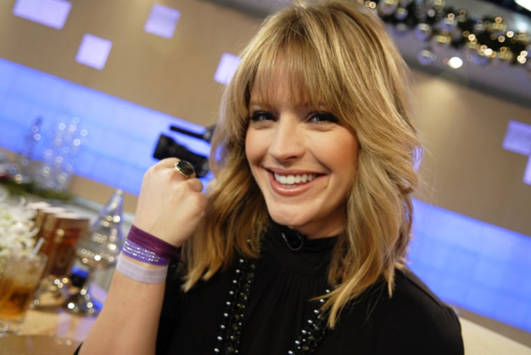 TODAY's Sara Haines shows off her Maddyloo hair ties.