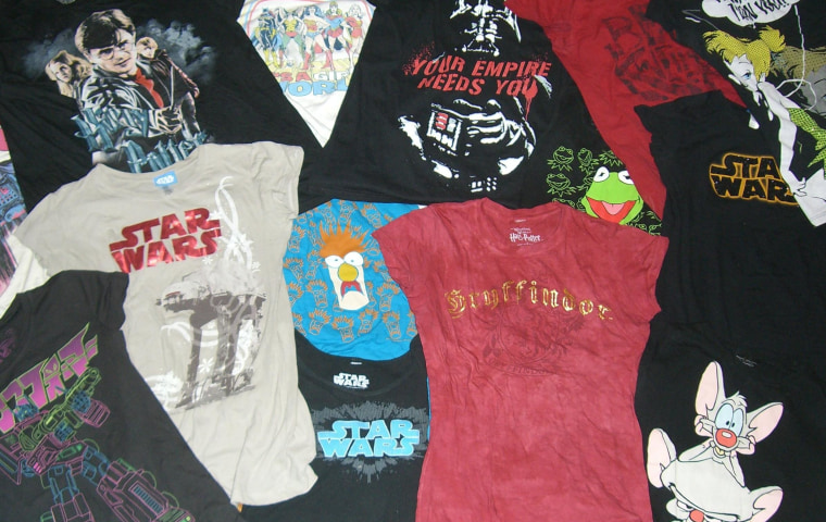 A small portion of my graphic tee collection.