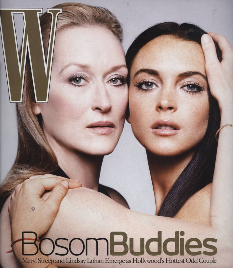 Streep and Lohan share a W cover in 2006.