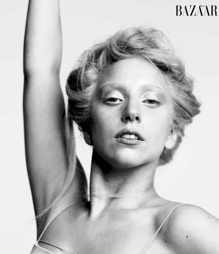Lady Gaga's most outrageous look yet might be this all-natural shot, in October's Harper's Bazaar.