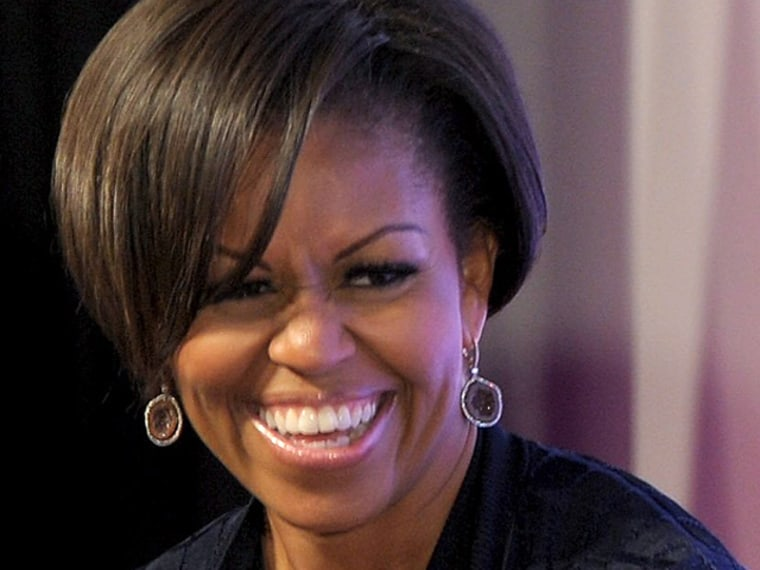 The first lady fooled them all.