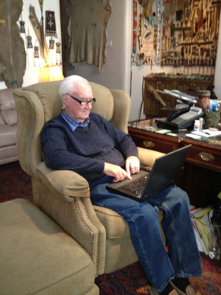 Forrest Fenn reads some of the nearly 7,500 emails he's received from treasure hunters hoping for a hint.