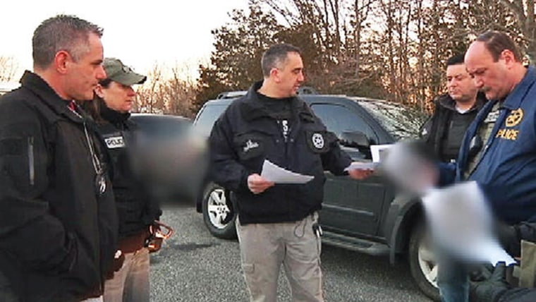 U.S. Marshals search for a sex offender who is believed to have fled in the wake of Sandy.
