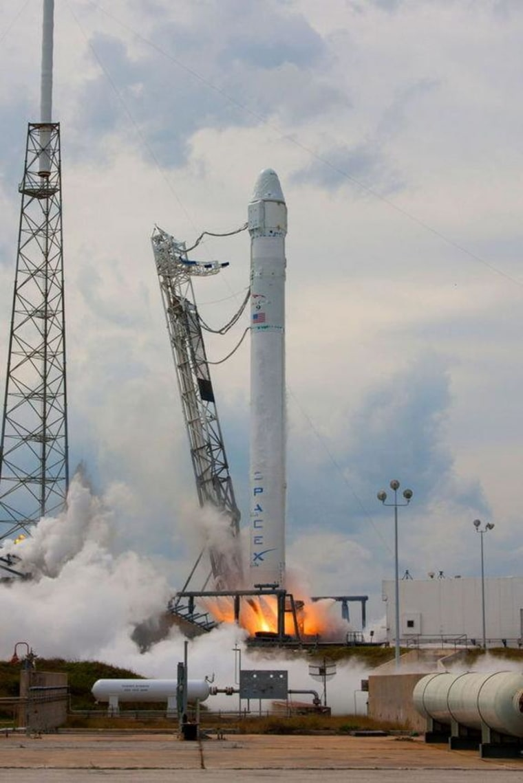On Monday, Falcon 9 and Dragon underwent a successful static fire in preparation for launch to the International Space Station. Engineers ran through all countdown processes as if it were launch day, ending with all nine engines on the rocket firing for nearly two seconds.