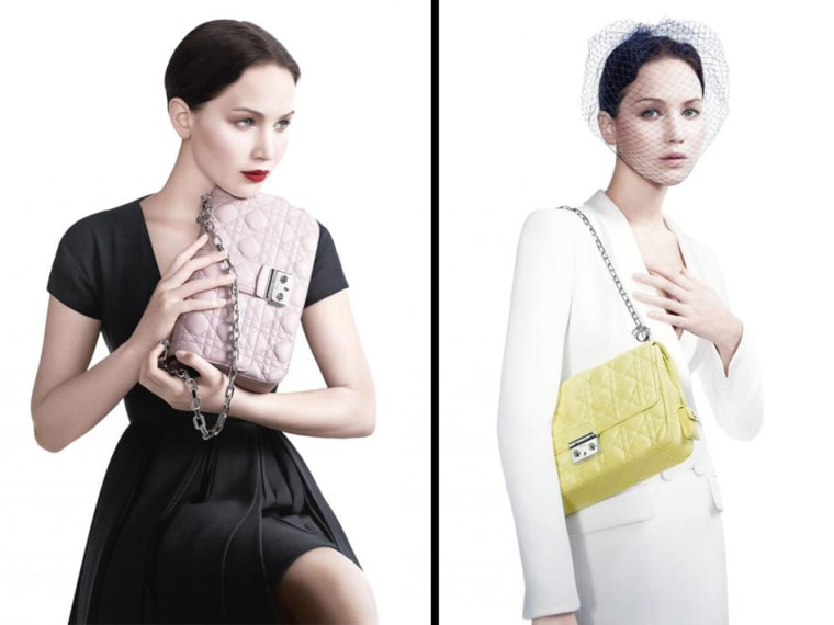 Oscar winner Jennifer Lawrence is the star of Dior's latest handbag ad campaign.