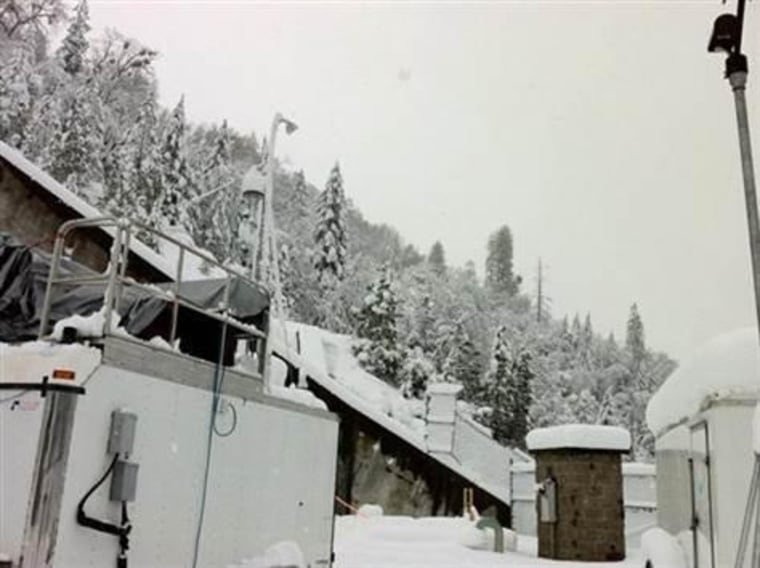 This 2011 image provided by the National Oceanic and Atmospheric Administration shows a field survey site in California's Sierra Nevada mountains. A new study published Thursday found snowfall in the Sierras was influenced by dust and microbes from as far away as Africa.