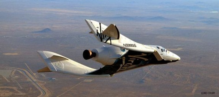 SpaceShipTwo undertook its 23rd glide flight on Dec. 19 in the pre-powered portion of its incremental test flight program. This was a significant flight as it was the first with rocket motor components installed, including tanks. It was also the first flight with thermal protection applied to the spaceship's leading edges.