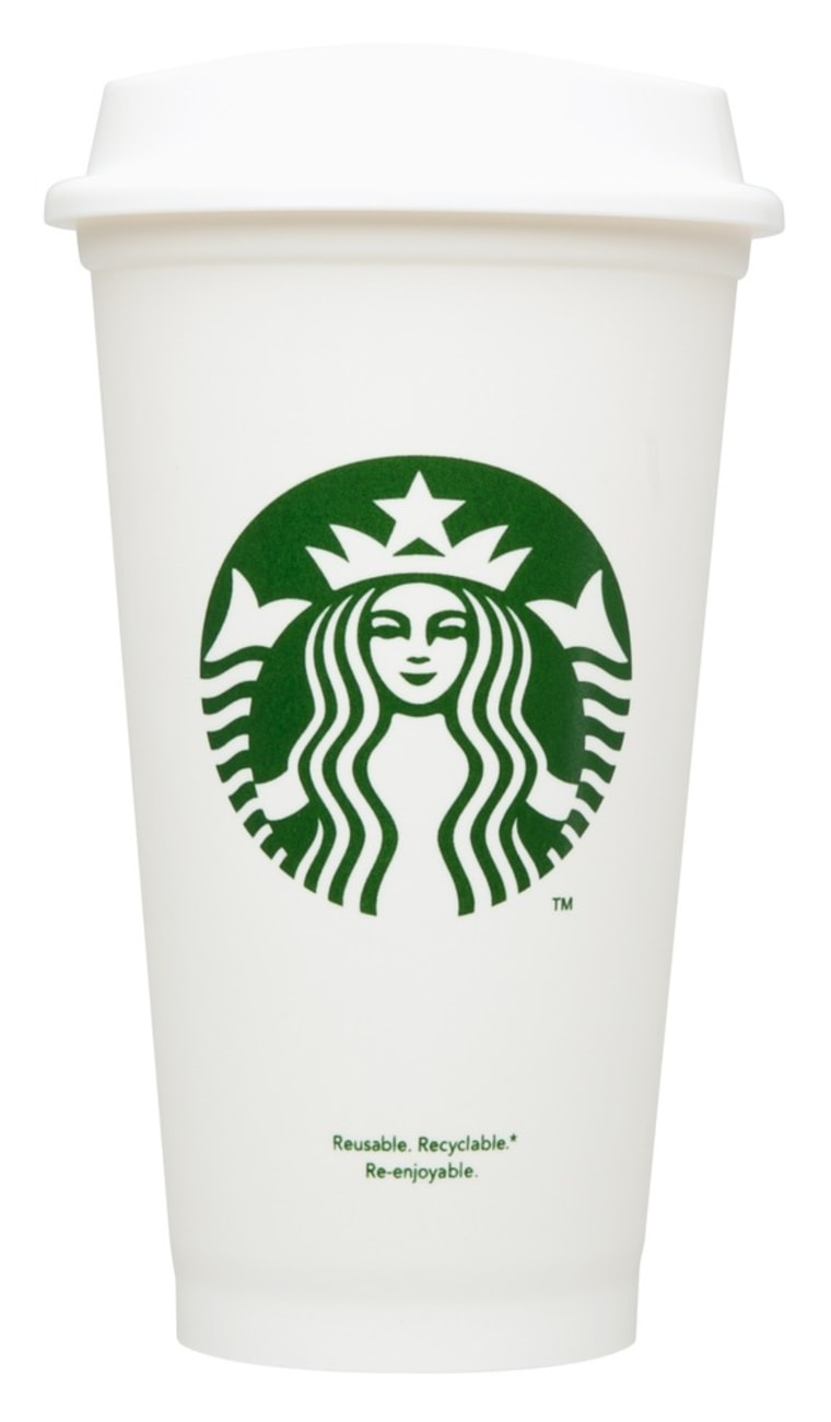 Refill, anyone? Starbucks is now selling a $1 reusable plastic cup.