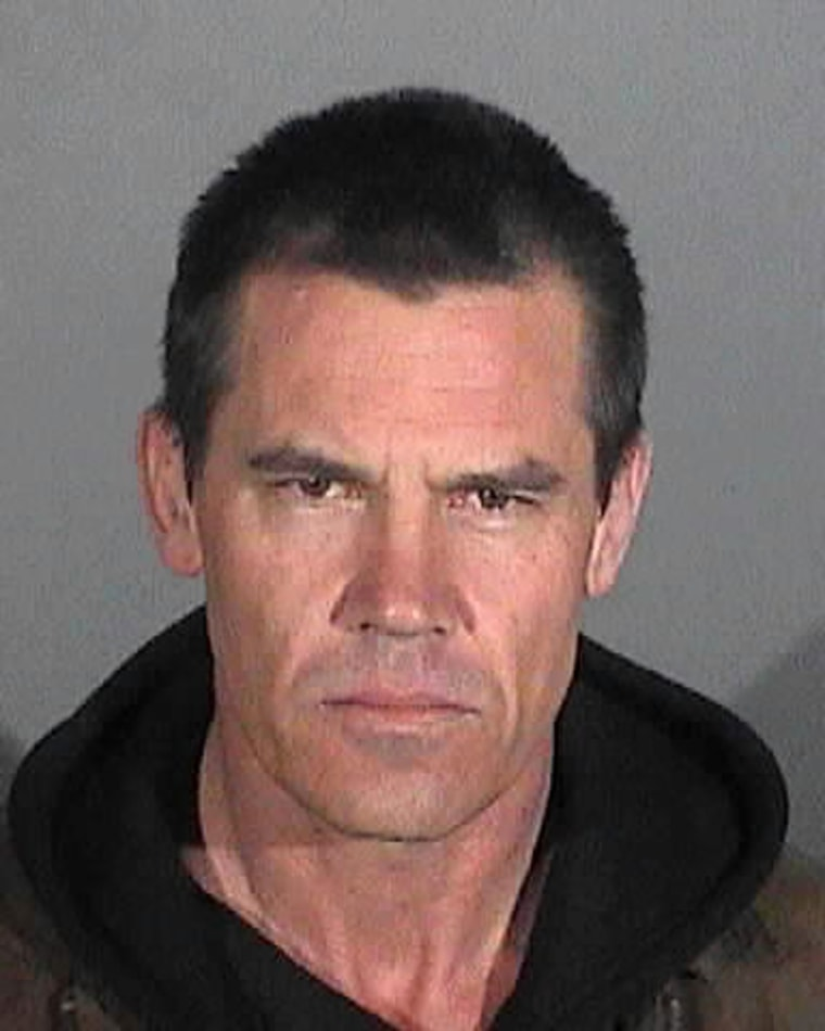 Josh Brolin is seen in a photo released by the Santa Monica Police Department.