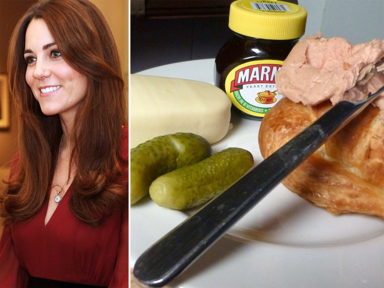 Croissant and pate? Marmite and ice cream? This is what many British women crave during pregnancy. Will Kate follow suit?