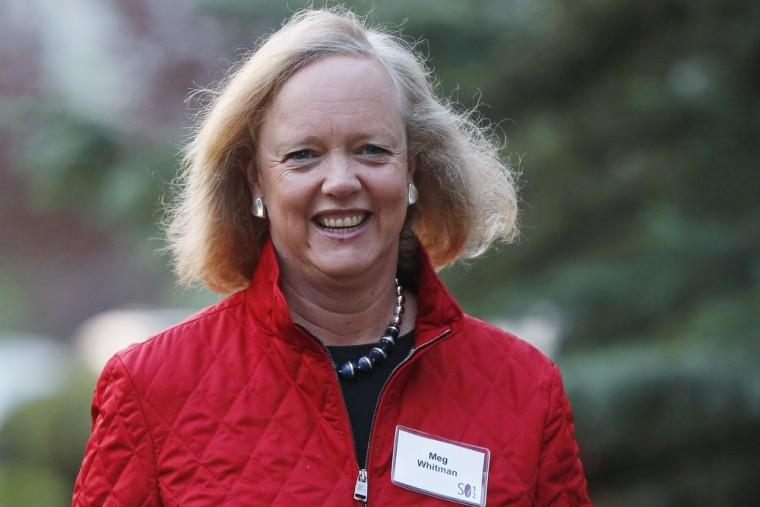 Hewlett Packard CEO and President Meg Whitman