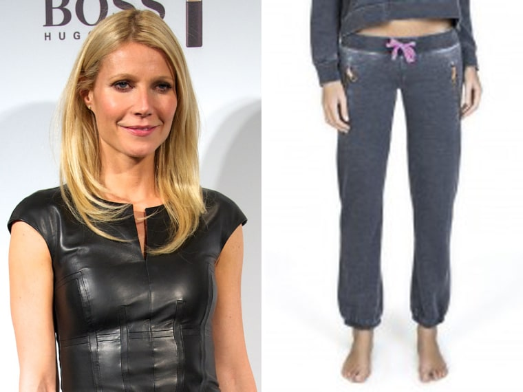 Worth the cost? Actress Gwyneth Paltrow's GOOP label is now selling sweatpants and a pullover for $290.