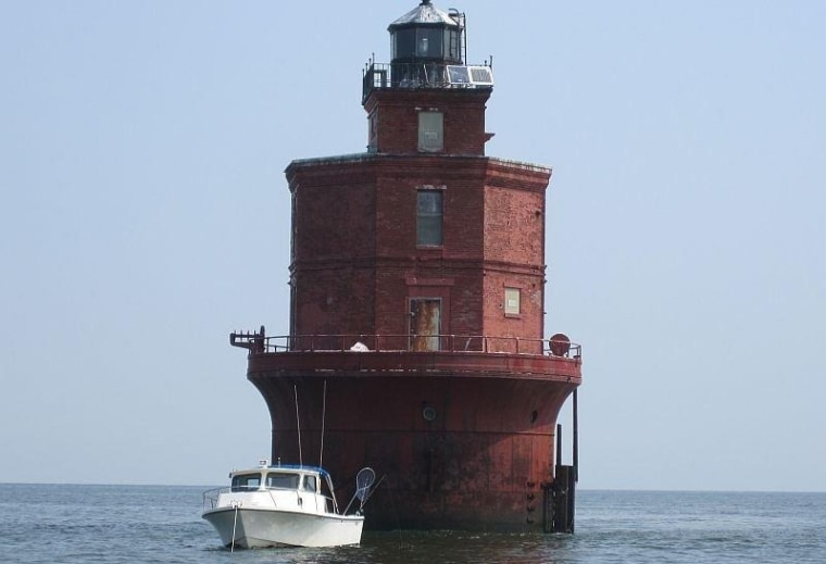 Wolf Trap Light Station, located in Chesapeake Bay three miles offshore, is for sale for $249,500.