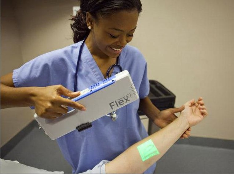 The Christie VeinViewer Flex uses DLP projection technology to help medical professionals find veins.