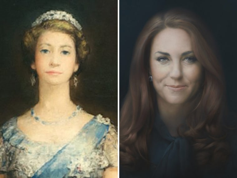 The Queen's portrait from 1952 was deemed not enough of a likeness. Many fans complained that Duchess Kate's official portrait also didn't bear a resemblance.
