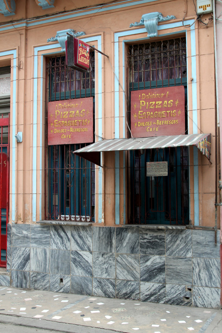 Officials from Cuba's Health and Epidemiology department inspected this pizza parlor located not too far from where the outbreak started in Havana and closed it down.