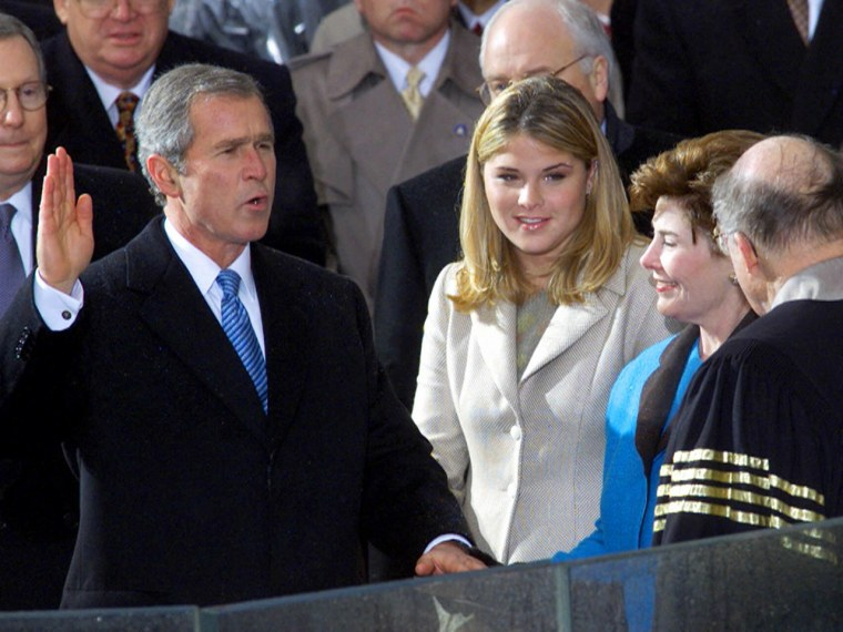 She was a college student when her father took the oath of office.