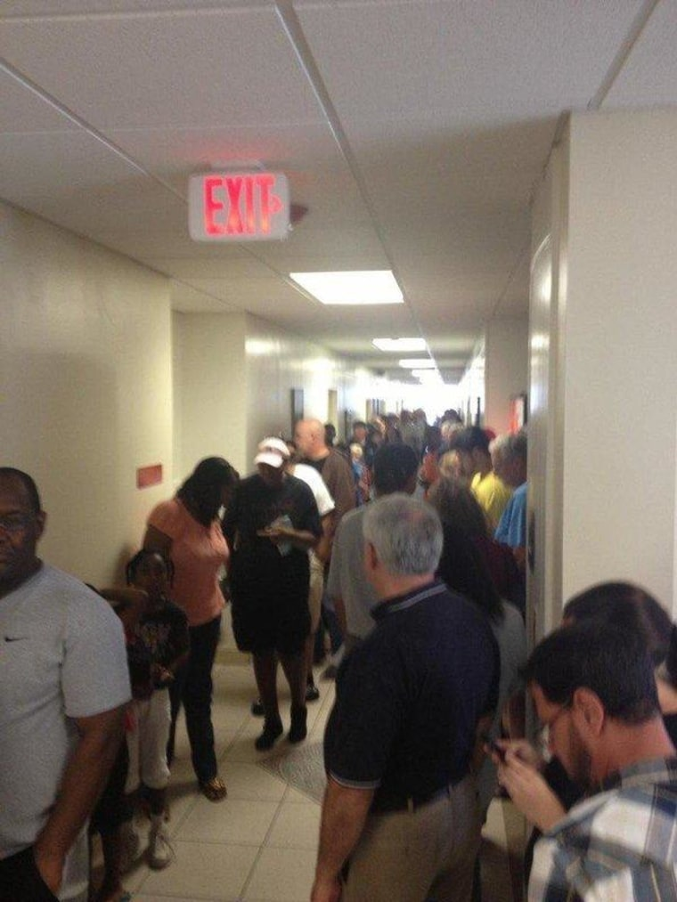 David Magness of Merritt Island, Florida, sent this pic of his polling place on the first day of early voting.
