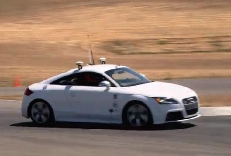 File photo of a robot car