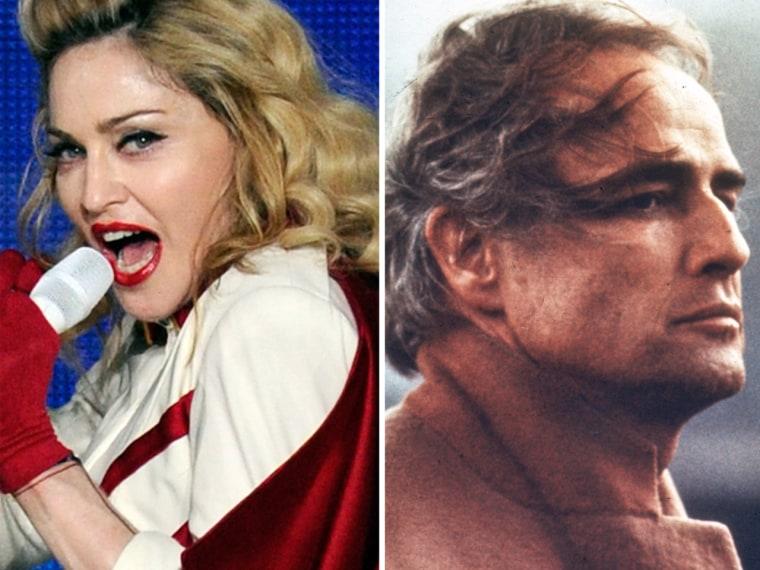 Madonna and Marlon Brando.