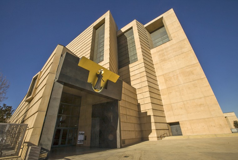 The entrance to the Cathedral of Our Lady of the Angels, headquarters for Roman Catholic Archdiocese of Los Angeles, is seen Jan. 21.