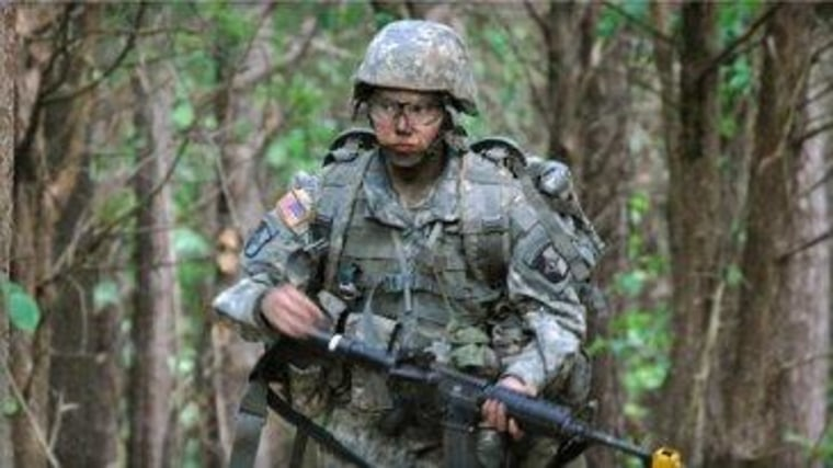 Capt. Sara Rodriguez of the 101st Airborne Division at Fort Campbell, Ky., in May 2012.