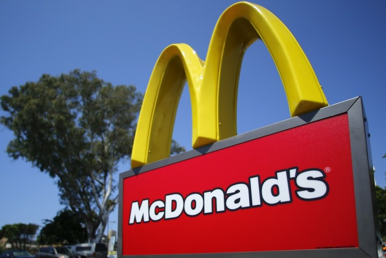 A McDonald's sign is shown at the entrance to one of the company's restaurants in Del Mar, California in this September 10, 2012, file photo. McDonald...