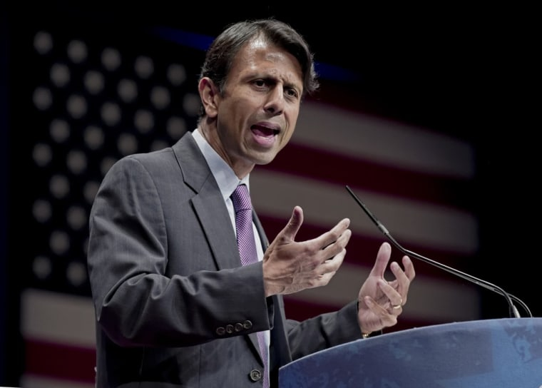 Gov. Bobby Jindal of Louisiana addresses activists from America's political right at the Conservative Political Action Conference (CPAC) in this file photo.