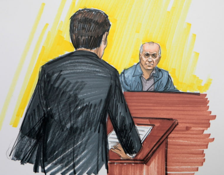 David Coleman Headley is shown in a courtroom sketch from May 2011.