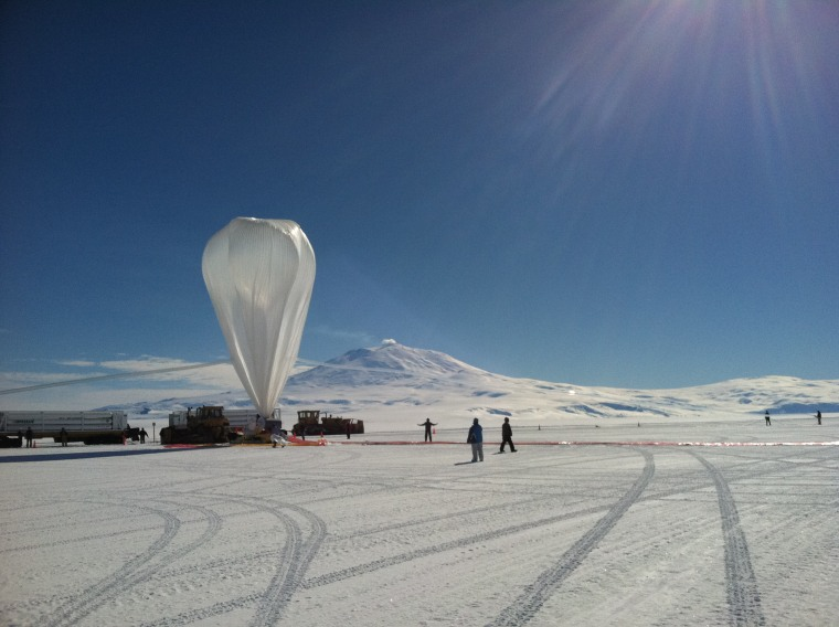 This U.S. science balloon was launched from Antarctica in December, 2012, and has circled the South Pole two and a half times.