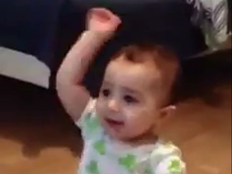 Baby does a mean Gangnam Style