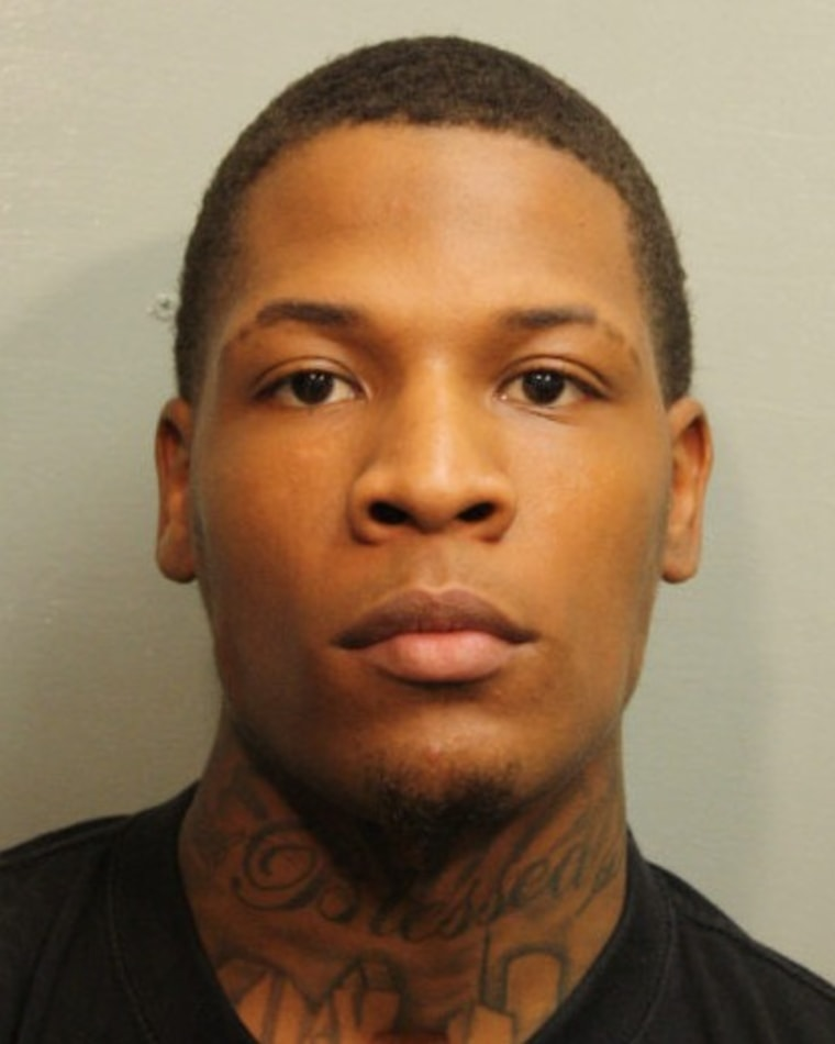Trey Foster is pictured in this police booking photo from Friday morning. Police charged and arrested Foster in connection with Tuesday's shooting at a Houston-area community college.