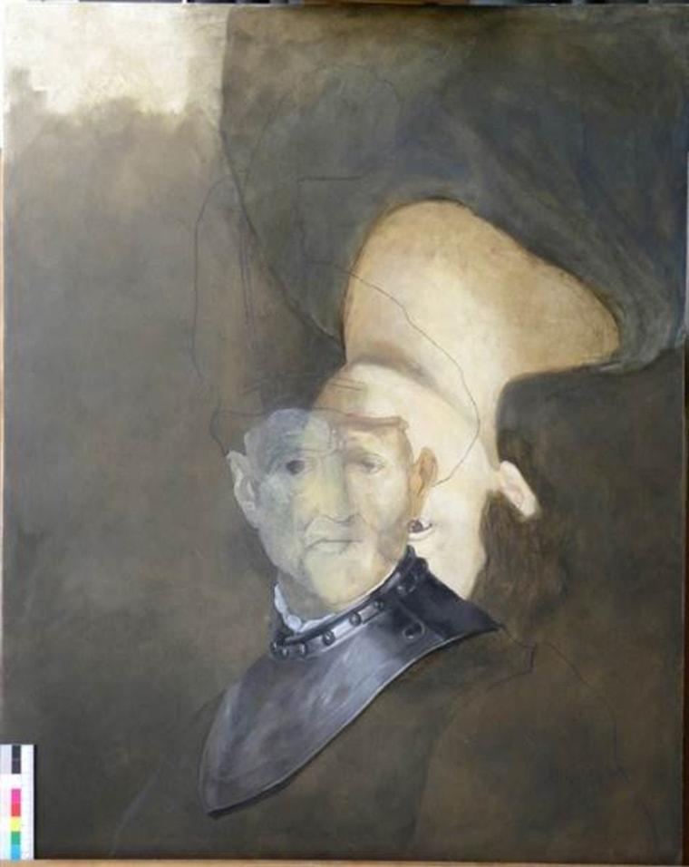 A half-finished mock-up shows Rembrandt's