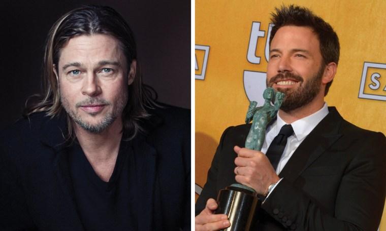 Brad Pitt, left, and SAG Award winner Ben Affleck.